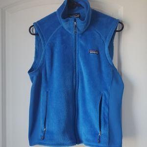 Patagonia | Blue Fleece Vest with Spandex Panels